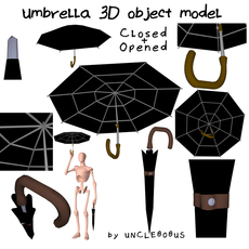 Umbrella 3D object model 3D Model