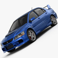 Mitsubishi Lancer Evolution 9 GT 2006 3D Model