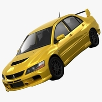 Mitsubishi Lancer Evolution 9 RS 2006 3D Model