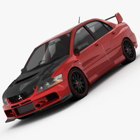 Mitsubishi Lancer Evo 9 Carbon 2007 3D Model