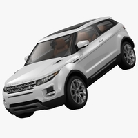 Range Rover Evoque Coupe 2011 3D Model