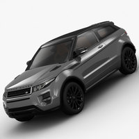 Range Rover Evoque Coupe Special Edition 2012 3D Model