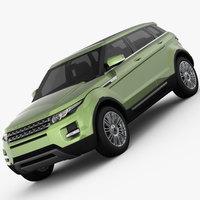 Range Rover Evoque 5-Door 2012 3D Model