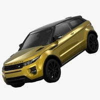 Range Rover Evoque Sicilian Yellow Limited Edition 2013 3D Model