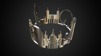Cityscape design ring london 2 3D Model