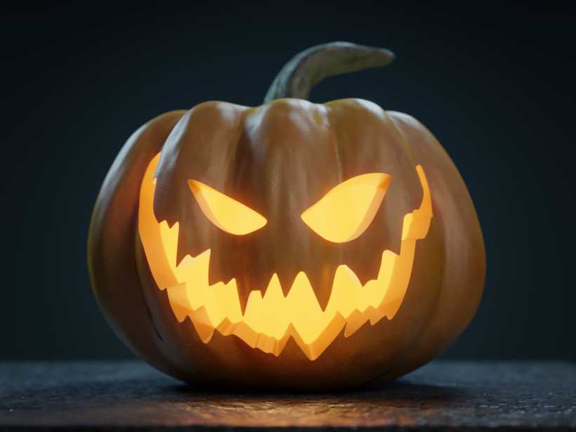 Halloween Pumpkin Jack O Lantern 3d Model