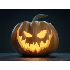 Halloween Pumpkin - Jack-o-lantern 3D Model