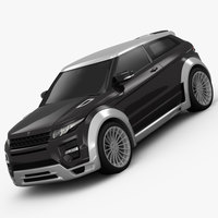 Range Rover Evoque Hamann 2012 3D Model