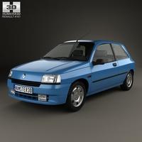 Renault Clio 3-door hatchback 1990 3D Model