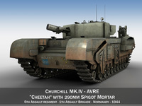 Churchill MK IV AVRE - Cheetah 3D Model