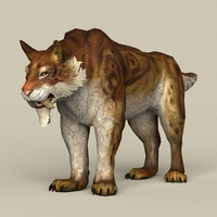 Game Ready Sabertooth 3D Model