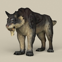 Game Ready Fantasy Sabertooth 3D Model