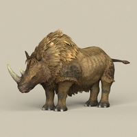 Game Ready Ice Age Rhinoceros 3D Model