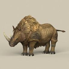 Game Ready Ice Age Rhinoceros 3D Model