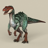Game Ready Fantasy Raptor 3D Model