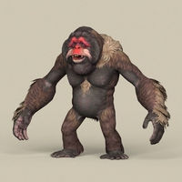 Game Ready Fantasy Orangutan 3D Model