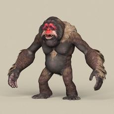 Game Ready Fantasy Orangutan 3D Model