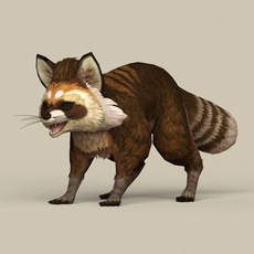 Game Ready Raccoon 3D Model