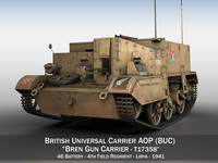 Bren Gun Carrier - BUC - T17358 3D Model