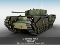 Churchill MK.III - Margie 3D Model