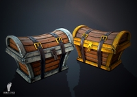 2 Treasure Chest Package 3D Model