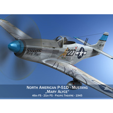 North American P-51D - Mustang - Mary Alyce 3D Model