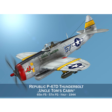 Republic P-47D Thunderbolt - Uncle Toms Cabin 3D Model