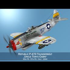 Republic P-47D Thunderbolt - Uncle Toms Cabin 3D Model