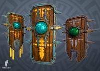 Aztec Shields 3D Model