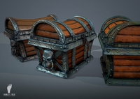 3 Pirate Treasure Chests 3D Model
