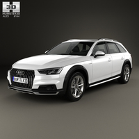 Audi A4 (B9) Allroad 2017 3D Model