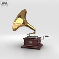 His Master's Voice Gramophone 3D Model