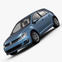 Volkswagen Golf 7 5-Door 2013 3D Model