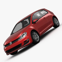 Volkswagen Golf 7 3-Door 2013 3D Model