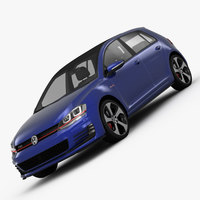 Volkswagen Golf 7 GTI 5-Door 2014 3D Model