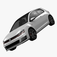 Volkswagen Golf 7 GTI 3-Door 2014 3D Model