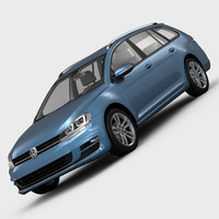 Volkswagen Golf 7 Variant 2013 3D Model