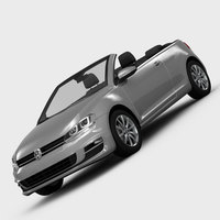 Volkswagen Golf 7 Cabriolet 2014 3D Model