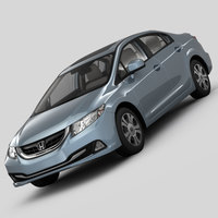 Honda Civic 4D Hybrid 2013 3D Model