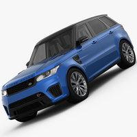Range Rover Sport SVR 2015 3D Model