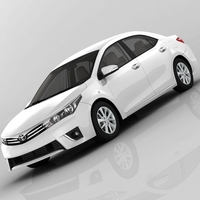 Toyota Corolla E170 Active 2014 detailed interior 3D Model