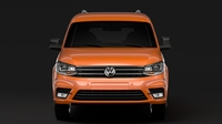 Volkswagen Caddy Maxi Crew Bus 2018 3D Model