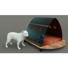 Dog House Project - House 02 3D Model