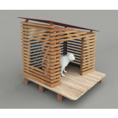 Dog House Project - House 01 3D Model