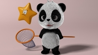 Cartoon Panda RIGGED 3D Model