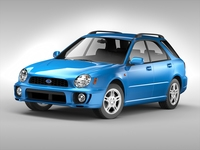 Subaru Impreza Wagon (2000 - 2007) 3D Model