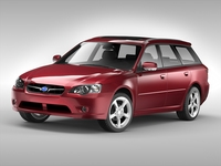 Subaru Legacy Wagon (2003 - 2009) 3D Model