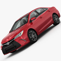 Toyota Camry XSE 2015 3D Model