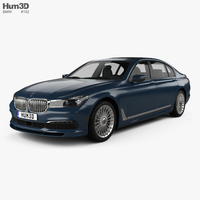 BMW 7 Series (G12) B7 Alpina 2017 3D Model