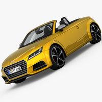 Audi TTS Roadster 2015 3D Model